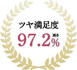ツヤ満足度 97.2%